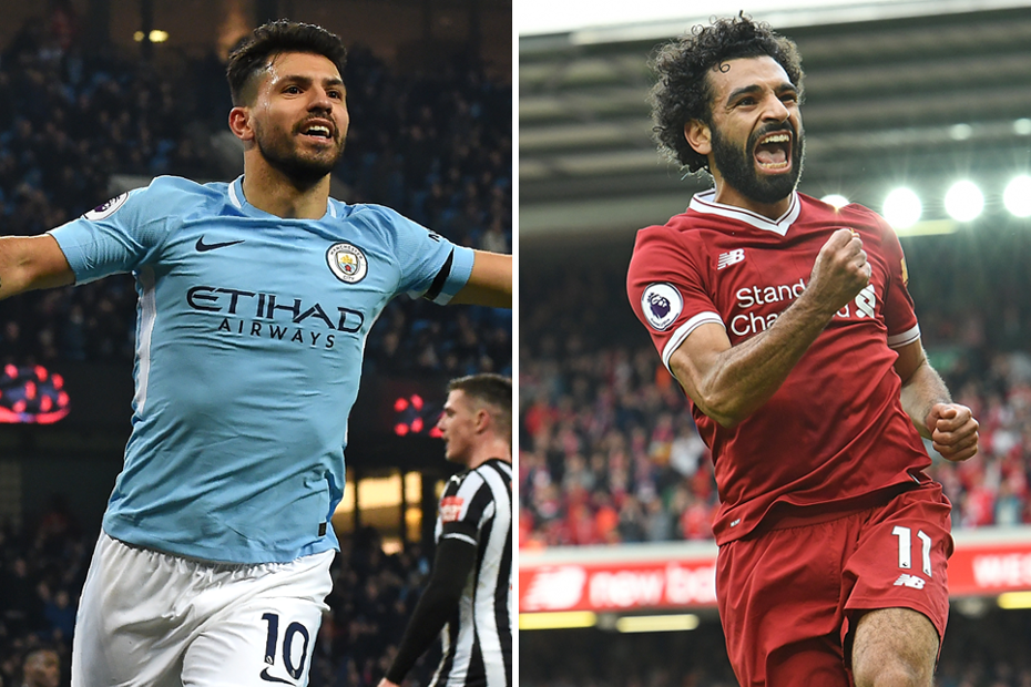 Sergio Aguero and Mohamed Salah