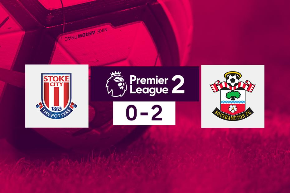 Stoke City v Southampton, PL2 graphic