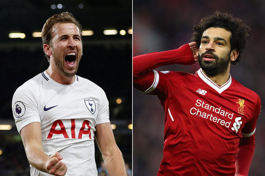 Harry Kane, Spurs, and Mohammed Salah, Liverpool