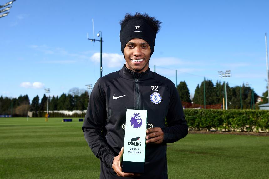 Willian, Carling Goal of the Month for January
