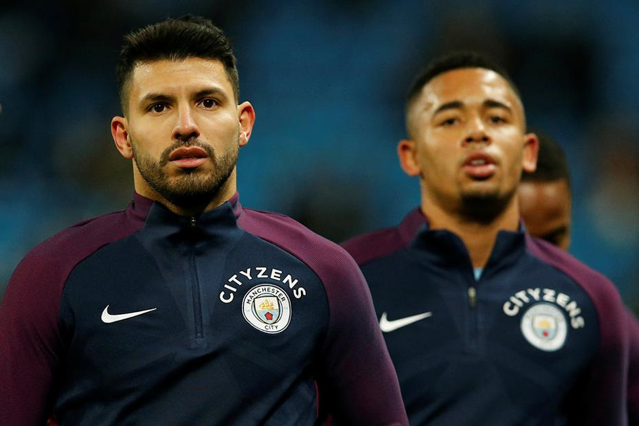 Sergio Aguero and Gabriel Jesus, Manchester City