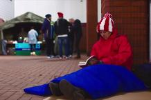 Fans brave cold for Stoke City's Big Sleep Out