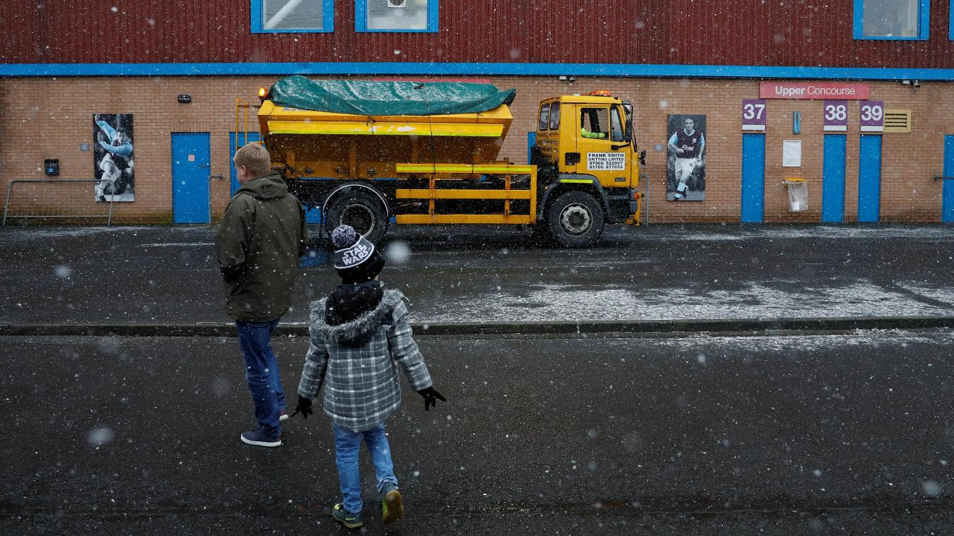 Burnley v Watford, snow