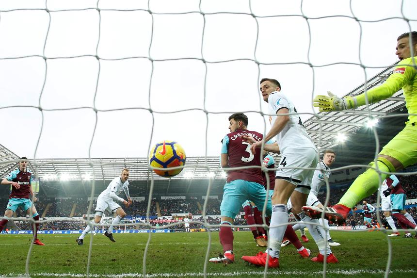Swansea City 4-1 West Ham United