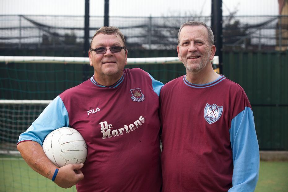 Bob Barritt, West Ham walking football