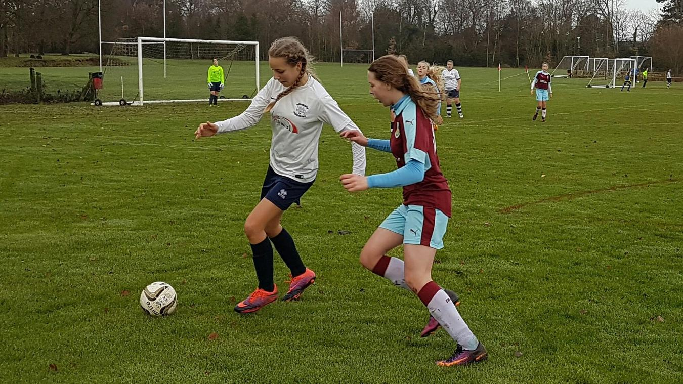 Amber in action for Burnley Girls