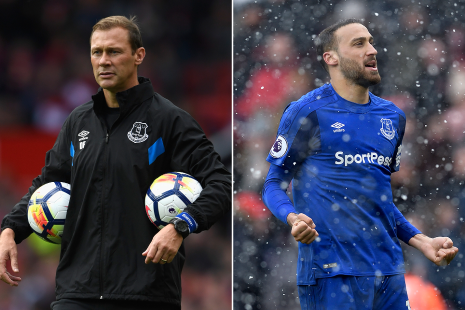 Duncan Ferguson and Cenk Tosun, Everton