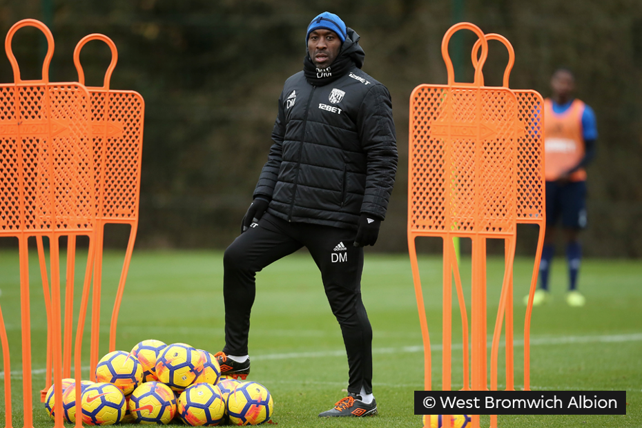 Darren Moore, West Brom training