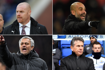 Contenders for March's Barclays Manager of the Month