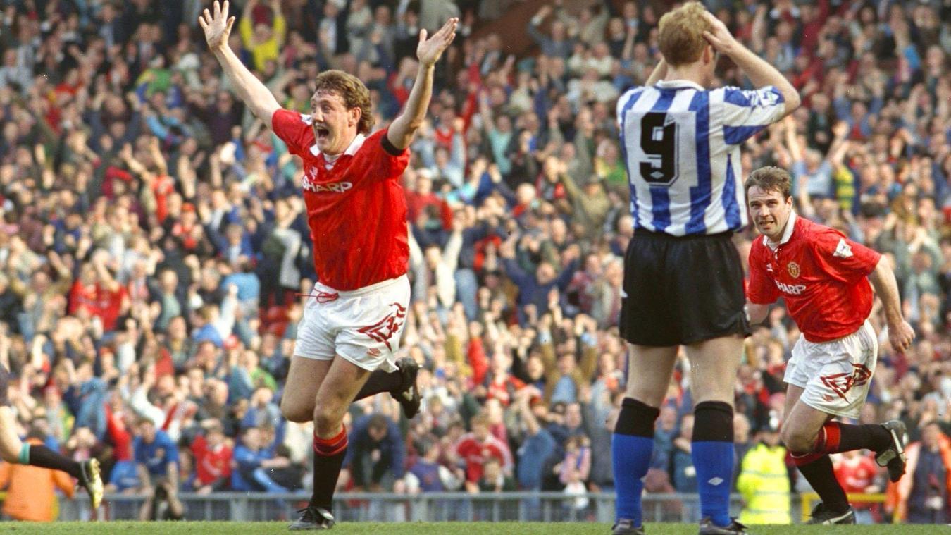 Steve Bruce, Manchester United celebration in 1992/93