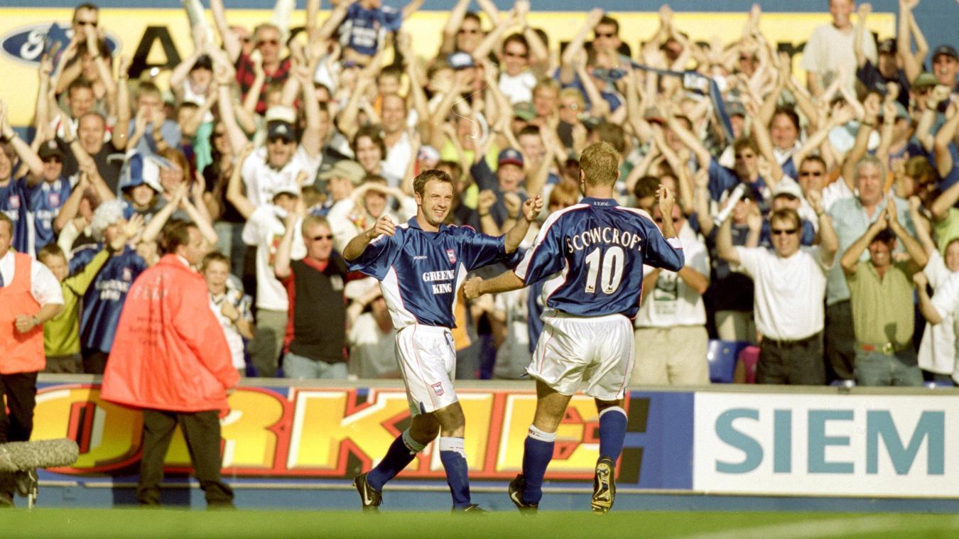 Marcus Stewart, Ipswich celebration in 2000/01