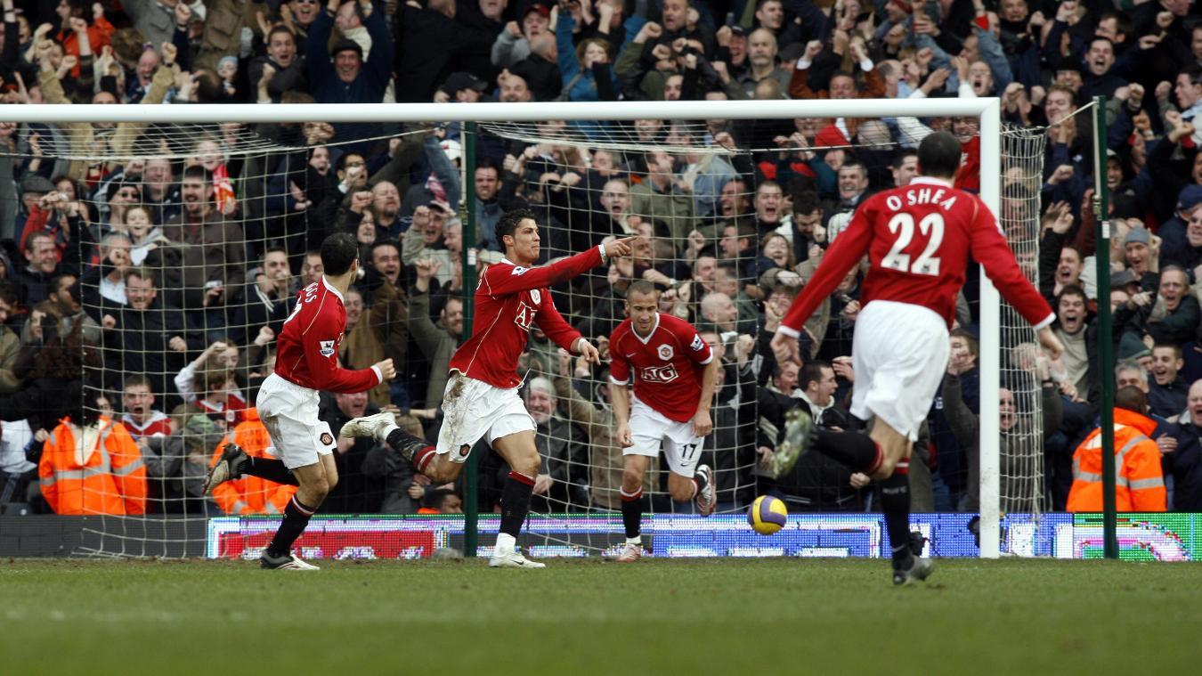 Cristiano Ronaldo, Manchester United celebration in 2006/07