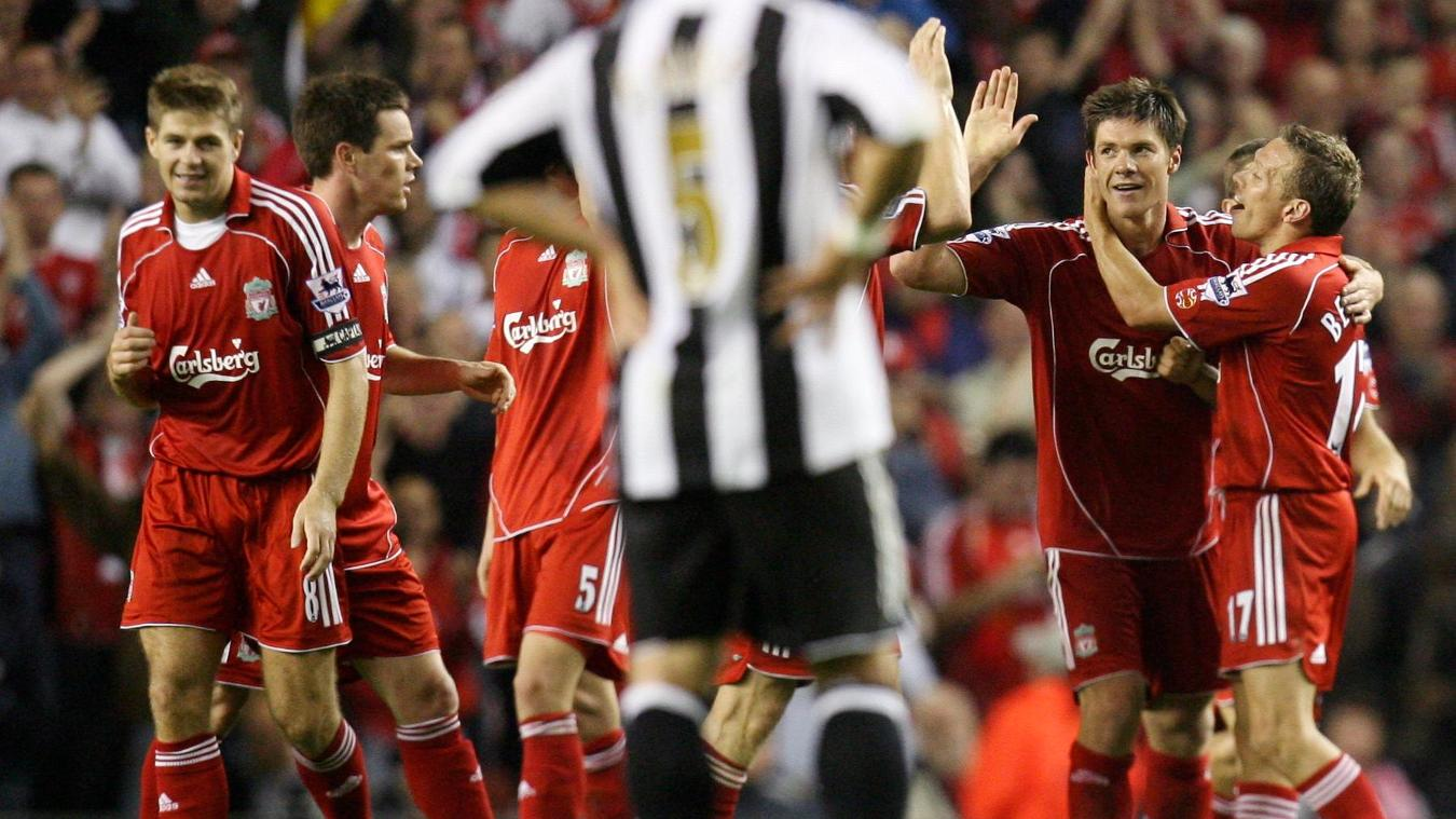 Xabi Alonso, Liverpool celebration in 2006/07