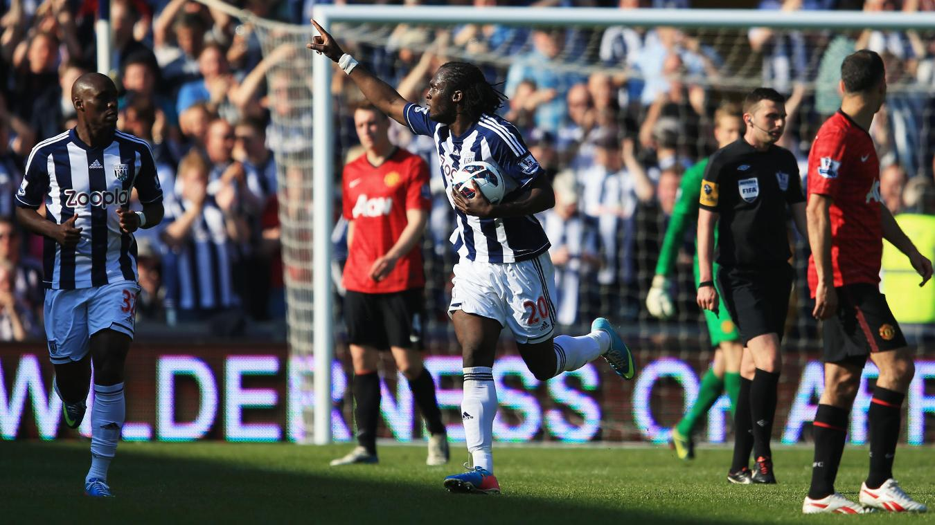 Romelu Lukaku, West Brom celebration in 2012/13