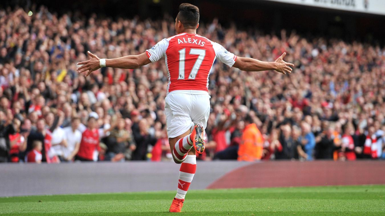 Alexis Sanchez, Arsenal celebration in 2014/15