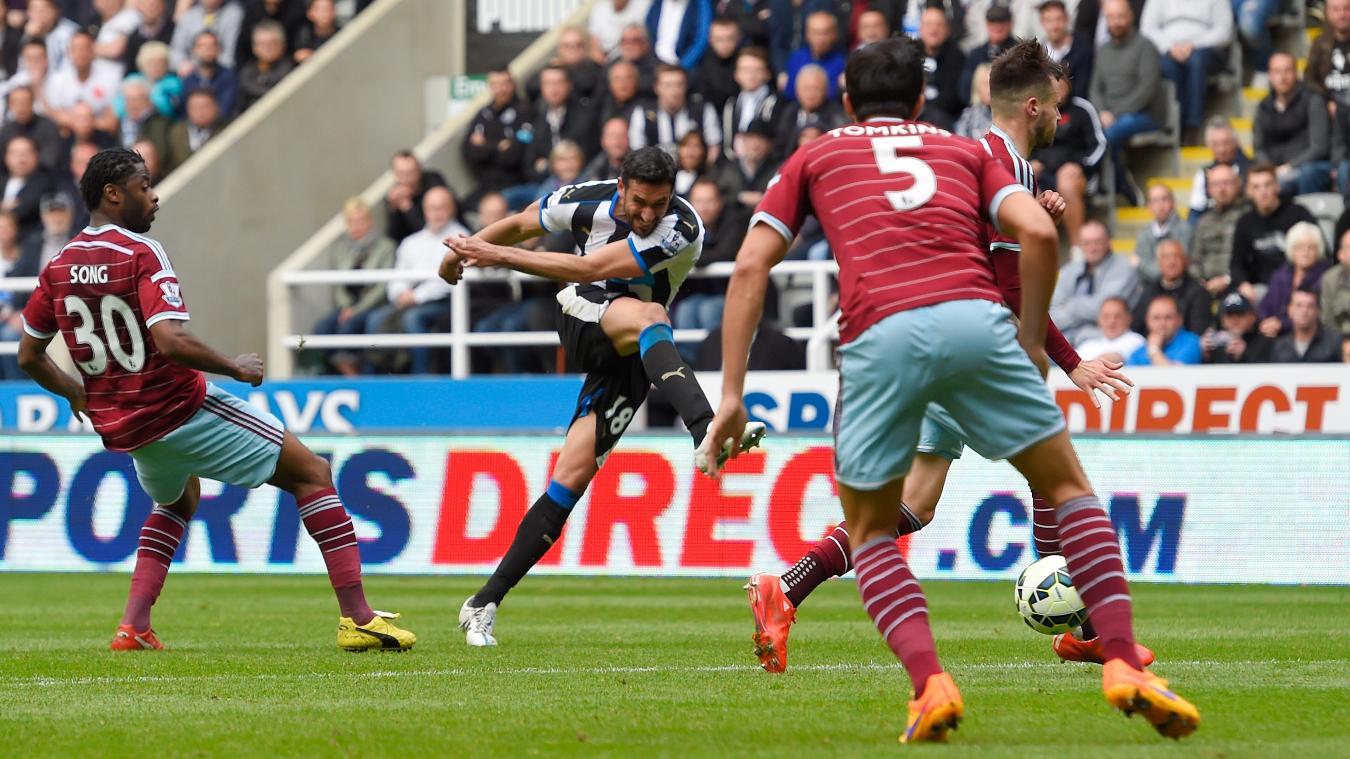 Jonas Gutierrez, Newcastle goal in 2014/15