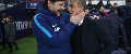 Spurs manager Mauricio Pochettino and Brighton's Chris Hughton