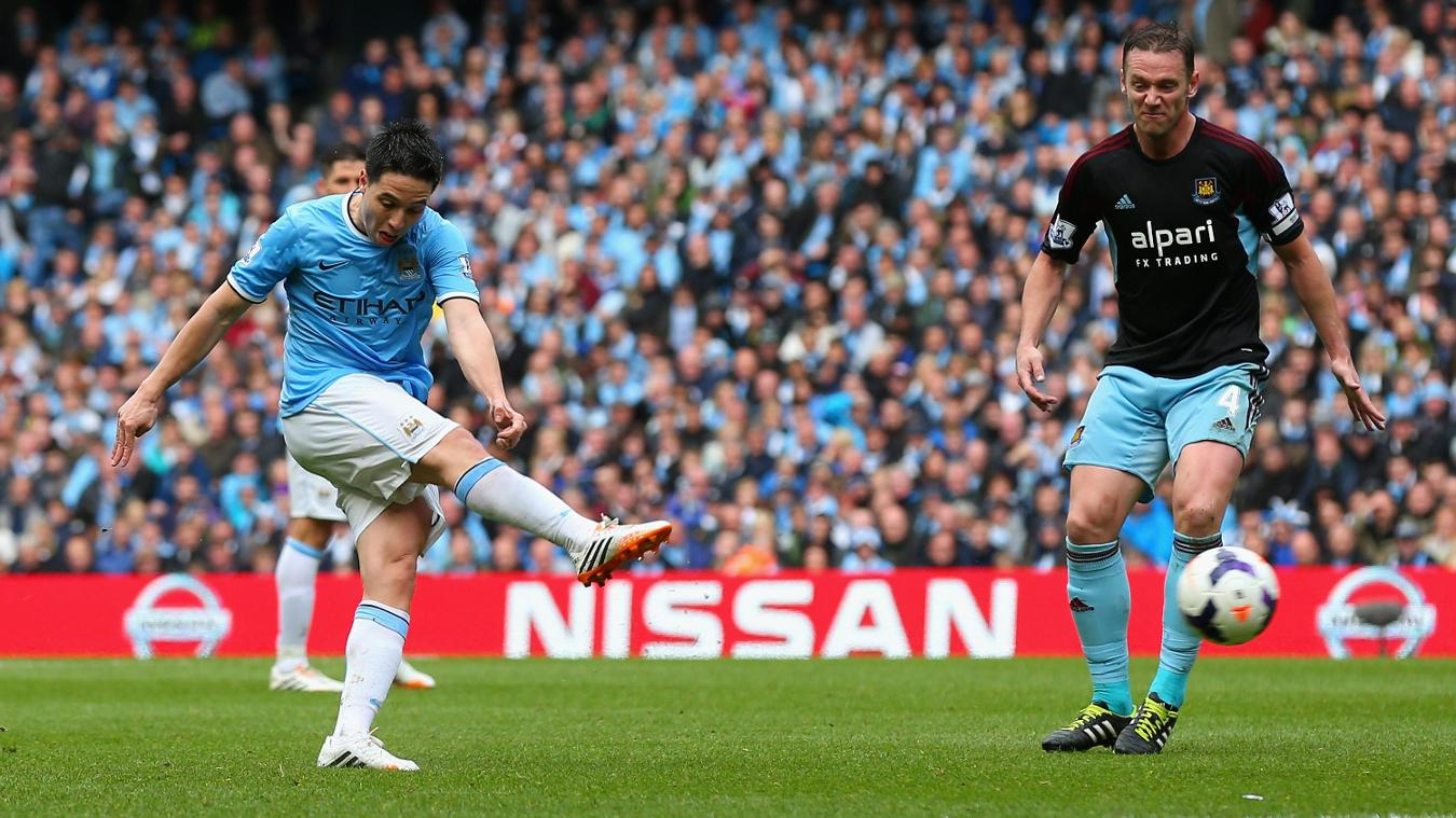 Samir Nasri, Man City goal in 2013/14