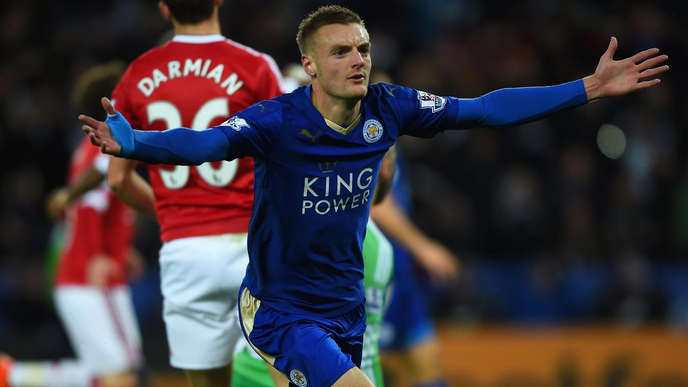 Jamie Vardy, Leicester celebration in 2015/16