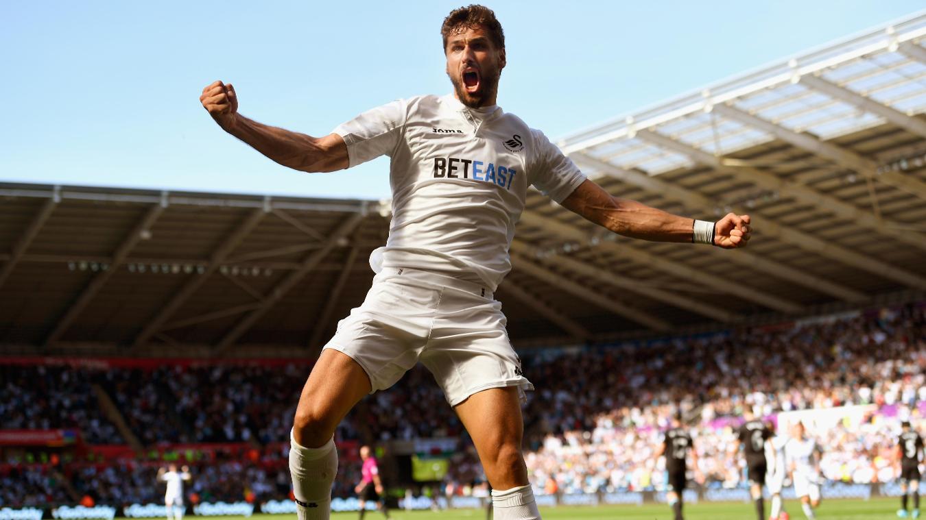 Fernando Llorente, Swansea celebration in 2016/17
