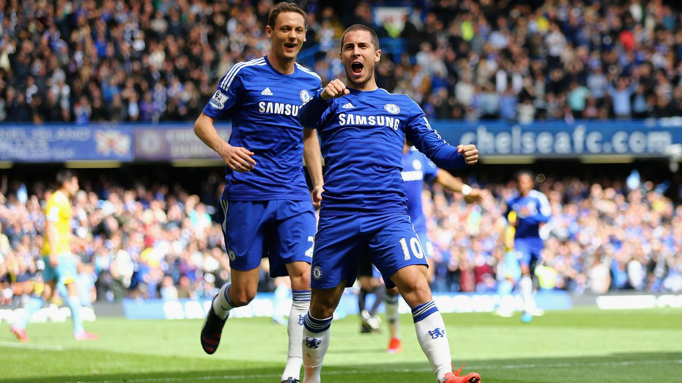 Eden Hazard, Chelsea celebration in 2014/15