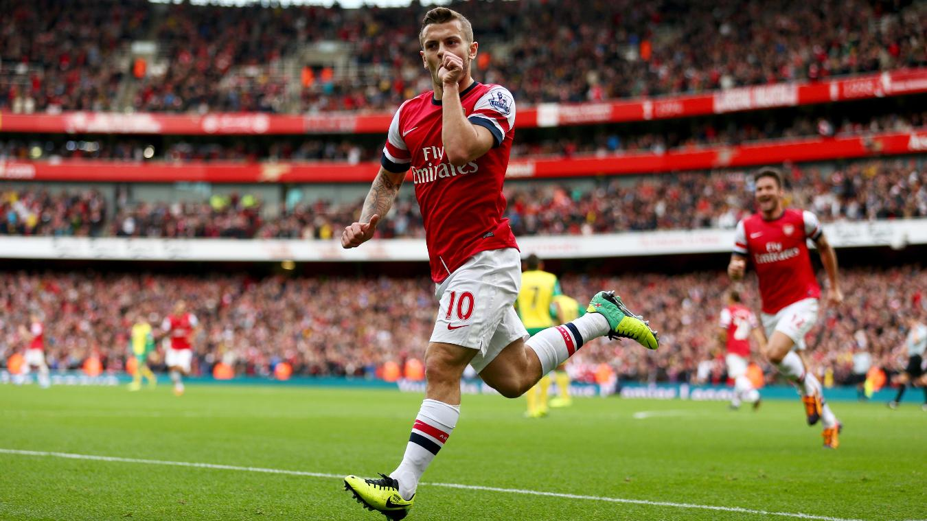 Jack Wilshere, Arsenal celebration in 2013/14