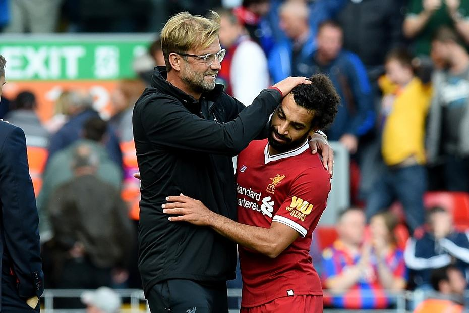 Jurgen Klopp and Mohamed  Salah