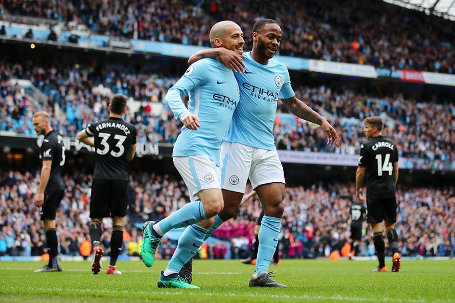 David Silva and Raheem Sterling, Manchester City