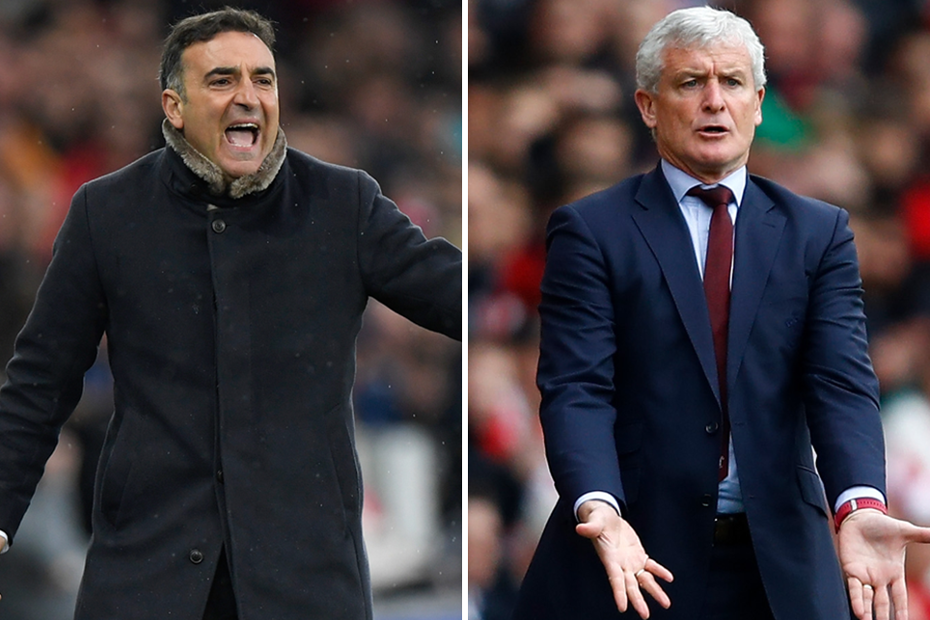 Carlos Carvalhal and Mark Hughes