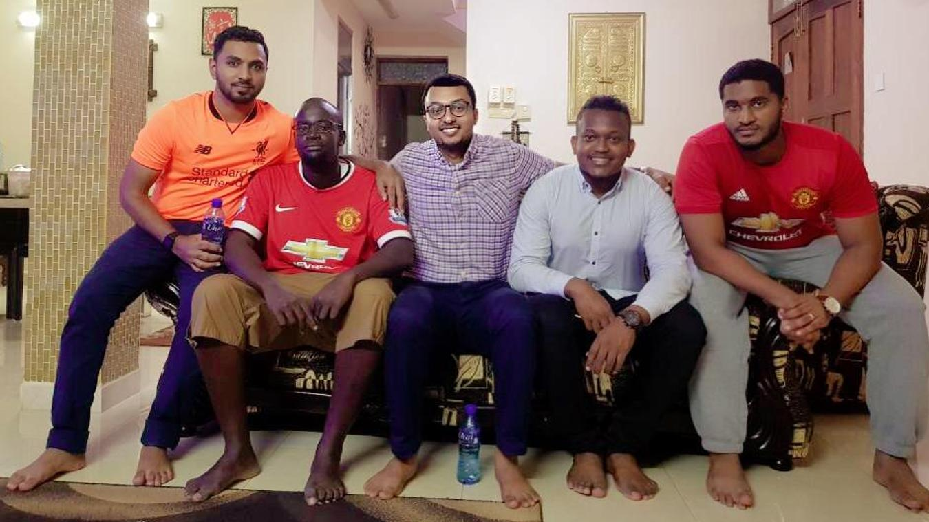 FPL 2017/18 winner Yusuf Sheikh and his friends