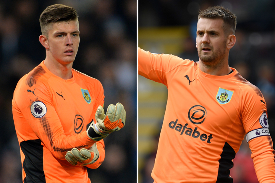 Burnley goalkeepers Nick Pope and Paul Heaton