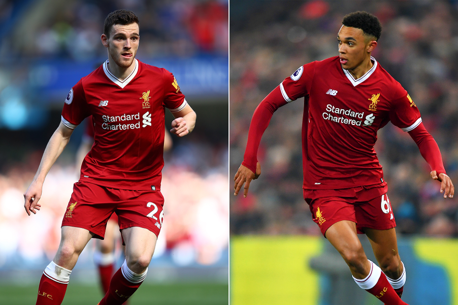 Andrew Robertson and Trent Alexander-Arnold, Liverpool