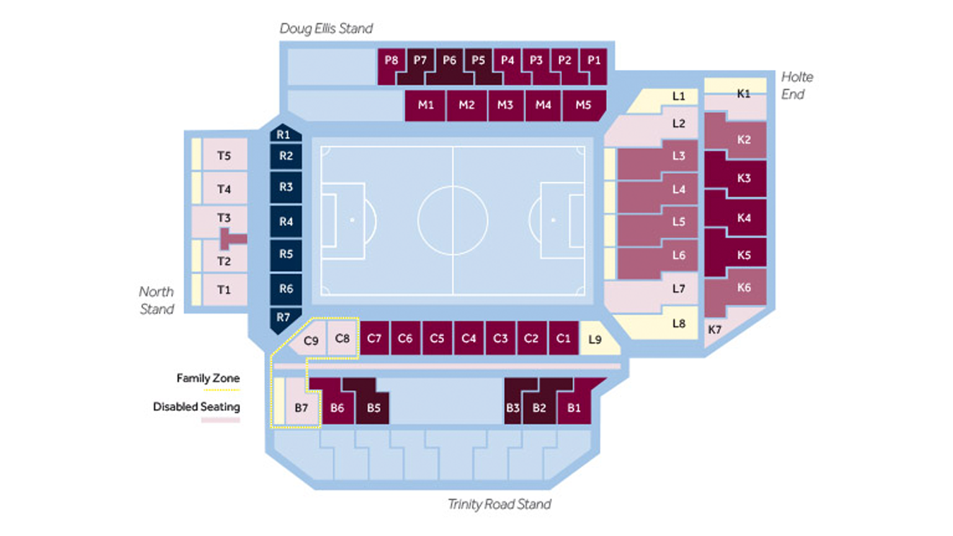 Villa Park Aston Villa Info Map Premier League