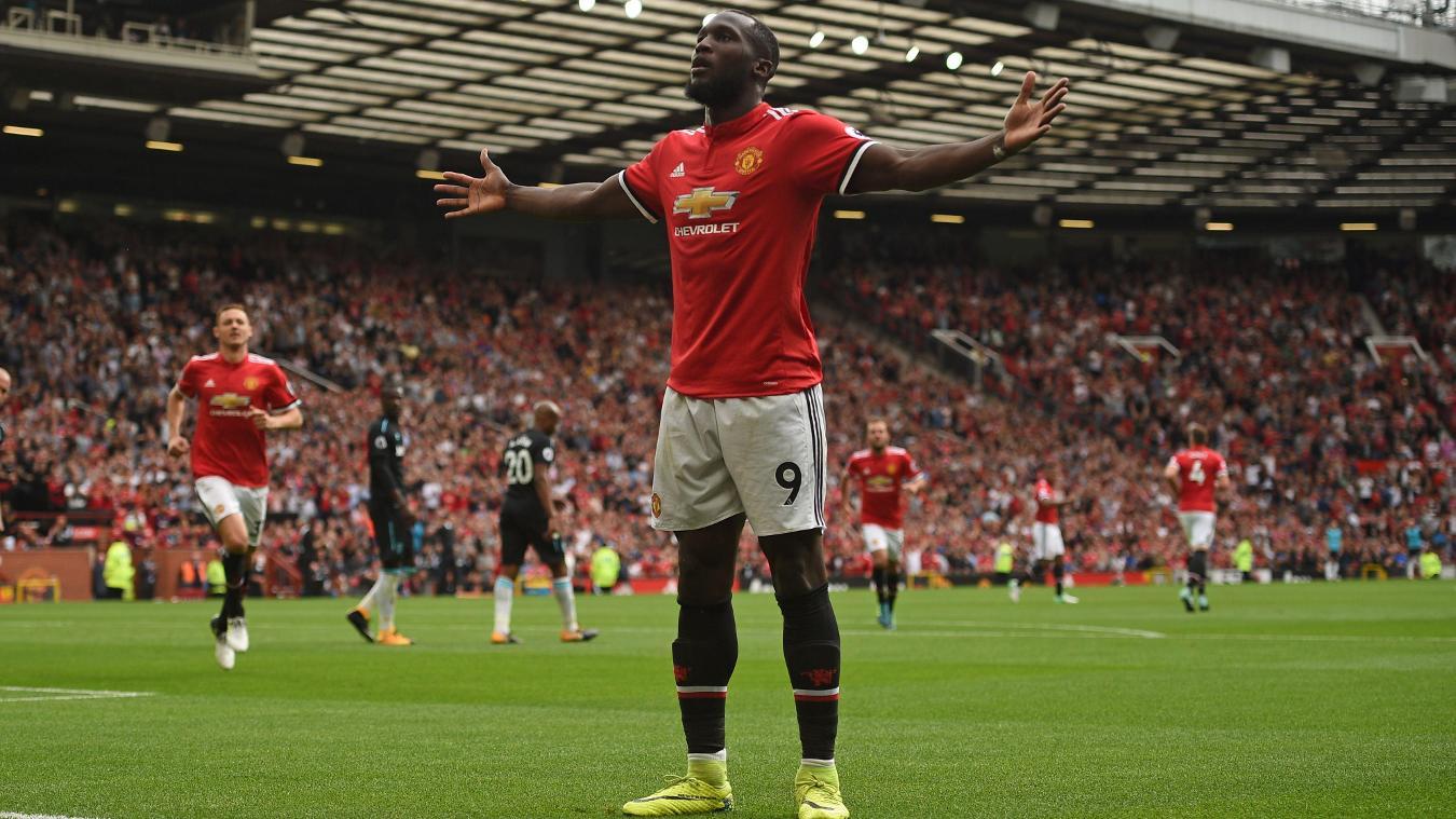 Romelu Lukaku, Manchester United celebration in 2017/18