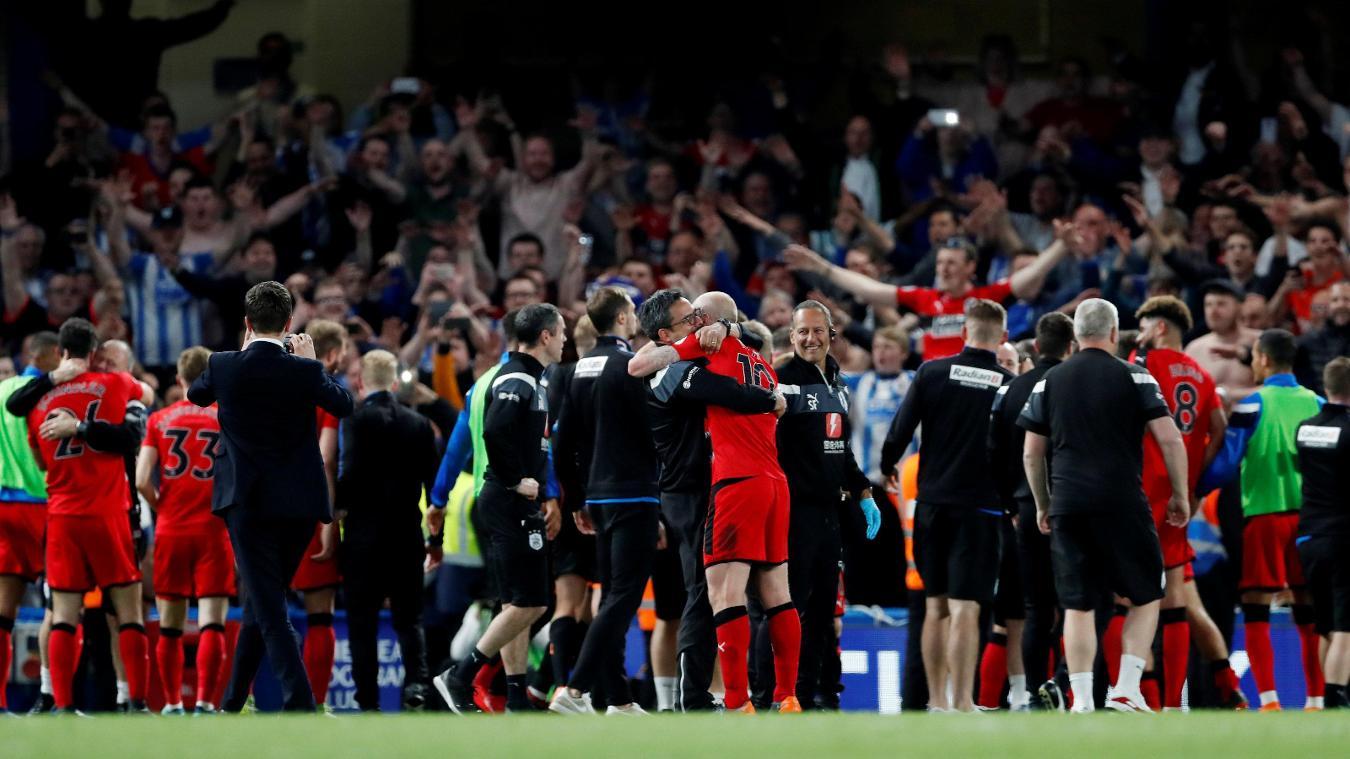 Huddersfield Town celebration in 2017/18