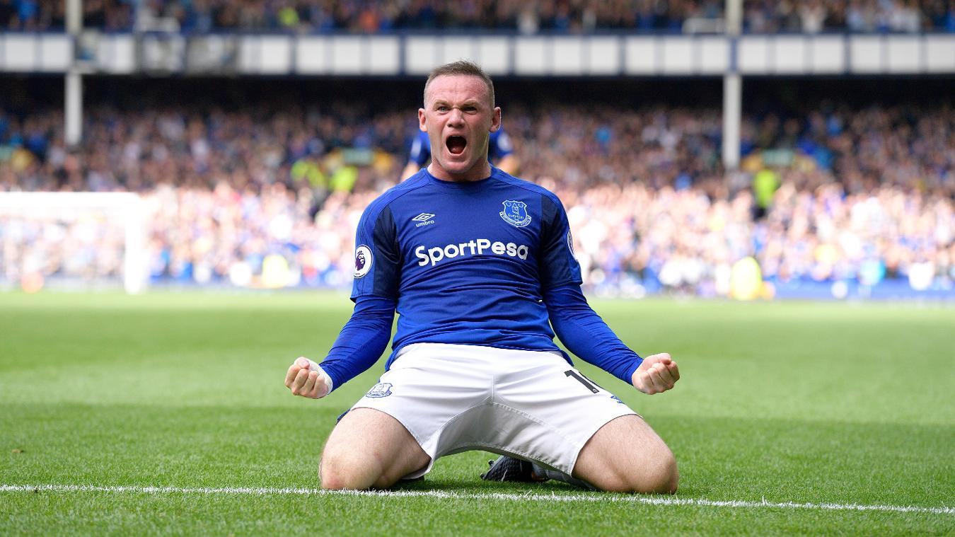 Wayne Rooney, Everton celebration in 2017/18