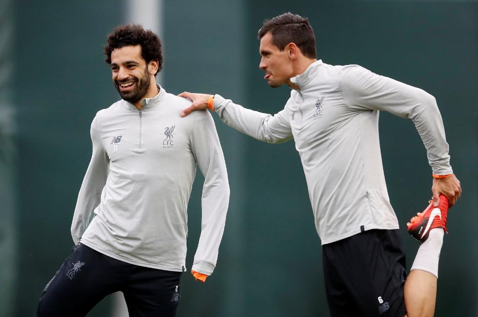 Mohamed Salah and Dejan Lovren, Liverpool