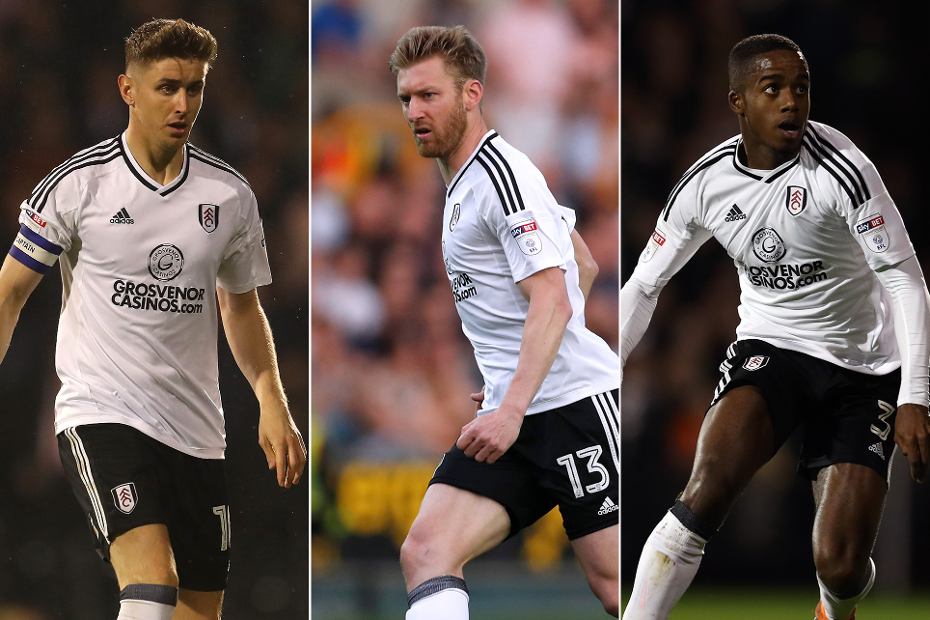 Tom Cairney, Tim Ream and Ryan Sessegnon, Fulham
