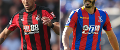 Charlie Daniels, AFC Bournemouth, and James Tomkins, Crystal Palace