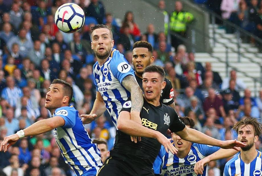 Brighton v Newcastle United set-piece