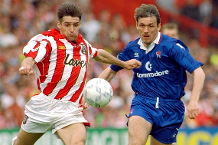 Sheff Utd in action against Chelsea