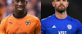 Willy Boly, of Wolves, and Cardiff defender Sean Morrison