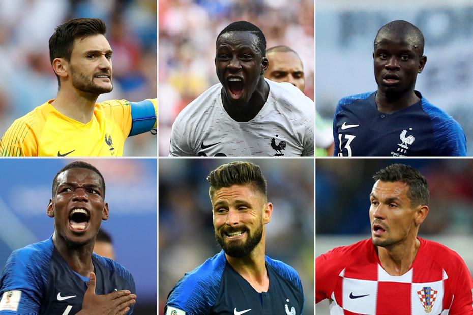 World-Cup final six: Lloris, Mendy, Kante, Pogba, Giroud, Lovren