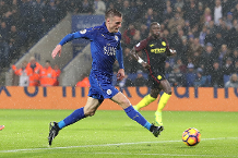 Iconic Moment: Vardy hat-trick stuns Man City