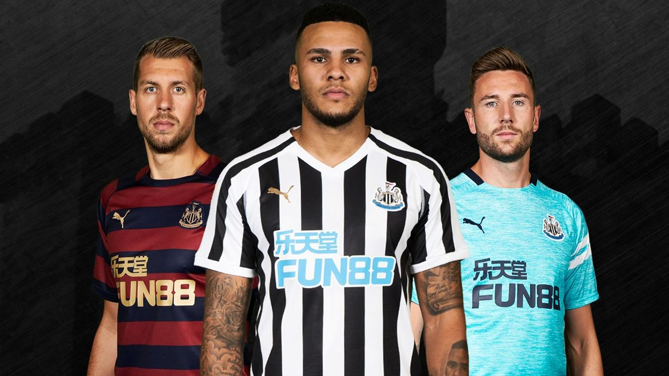 Newcastle United home, away and third
