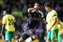 Luis Suarez v Norwich