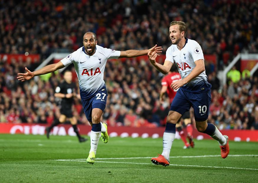 Lucas Moura and Harry Kane