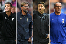 Shortlist for August's Barclays Manager of the Month