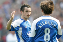 Watch Baines' brilliant volley for Wigan