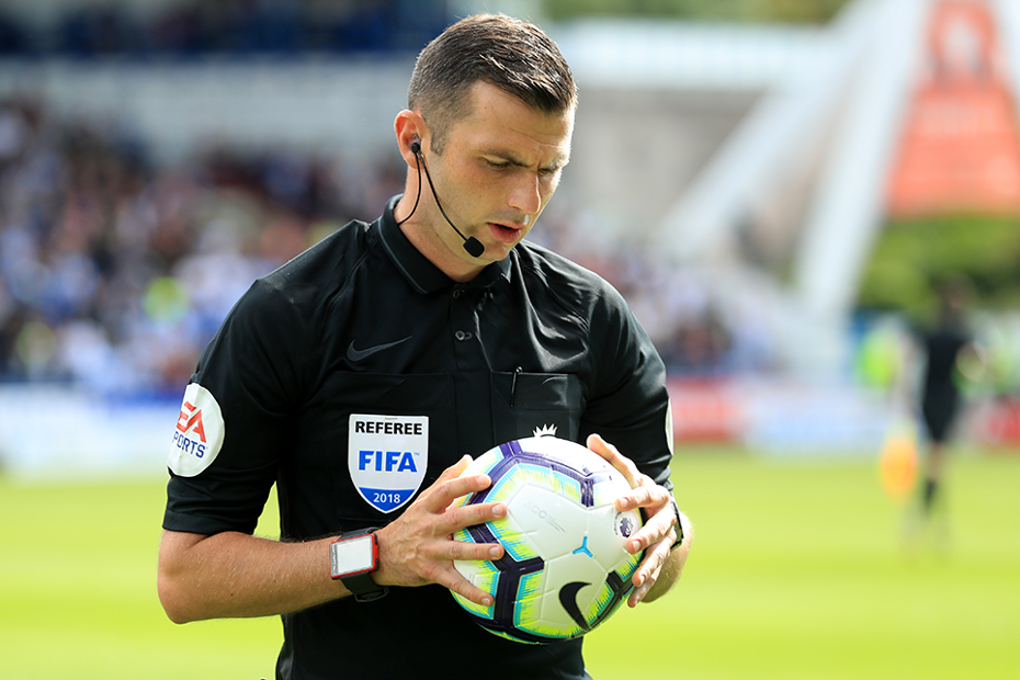 Michael Oliver, referee, 2018/19